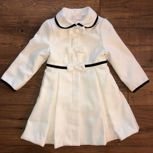 Gymboree Joyful Holiday Winter Ivory Dress Coat